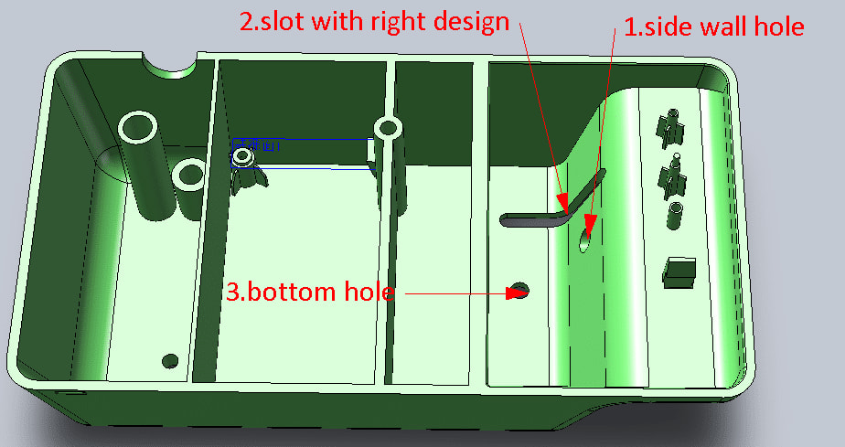 injection molding hole design