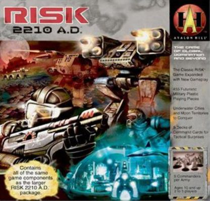 Risk 2210 A.D. Board Game