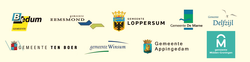 Eemsmond, Delfzijn, Loppersum, Appingedam, Ten Boer, Winsum, De Marne, Bedum, Midden-Groningen (voormalig Slochteren)