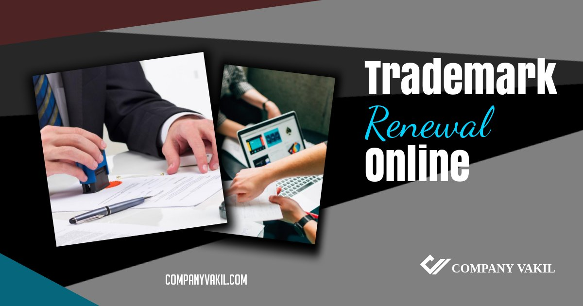 online renewal of trademark in india