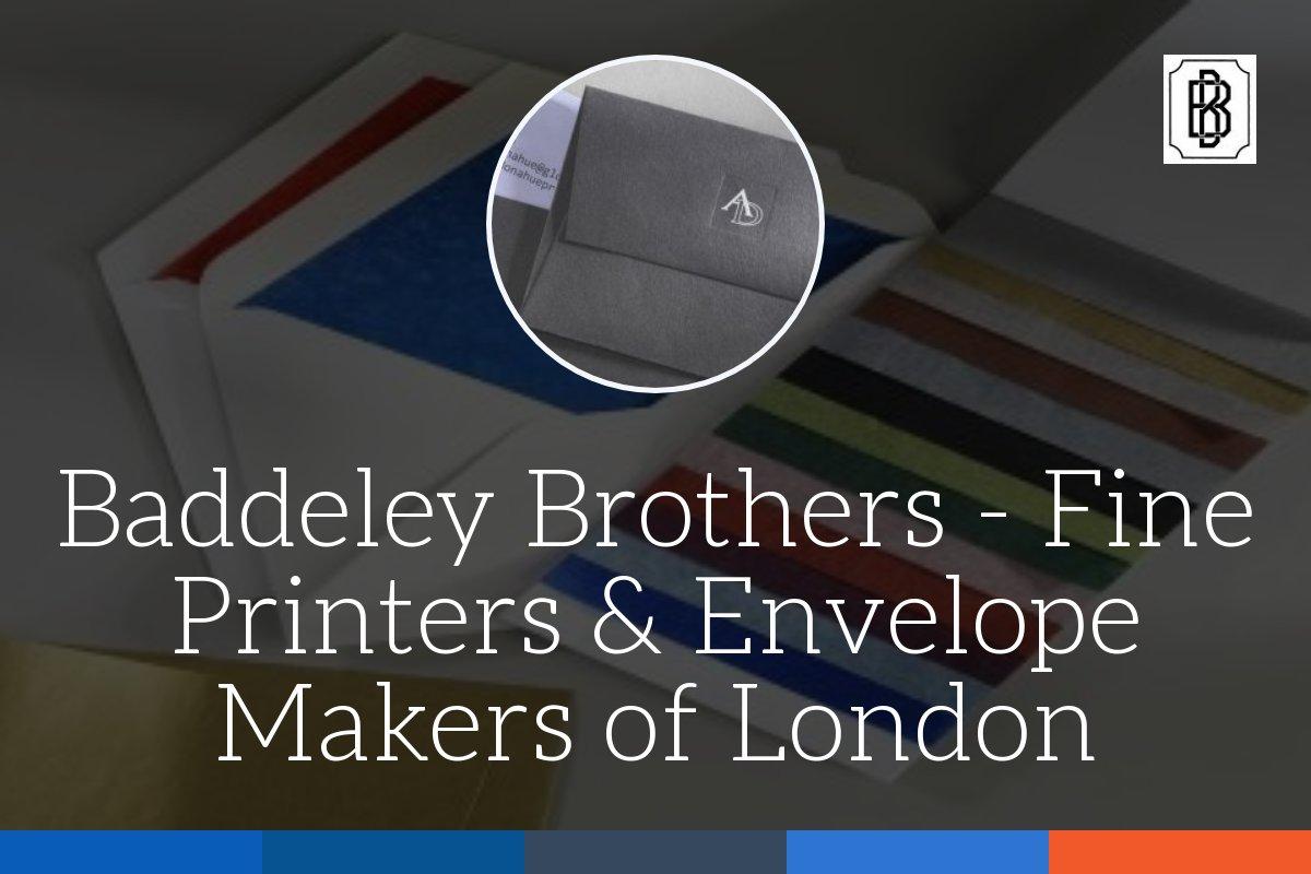 Baddeley Brothers Printers