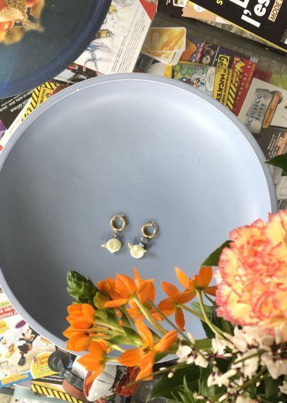 Mint Freshwater Pearl Earrings