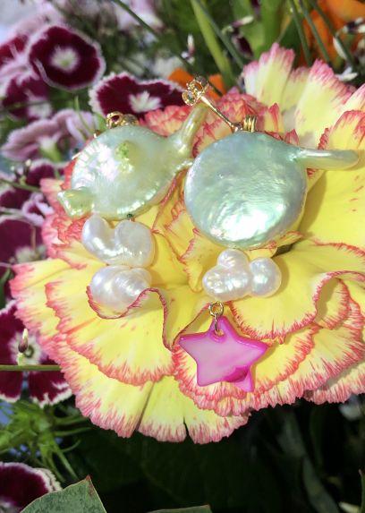 Boucles d'oreille Perles d'eau douce Stella