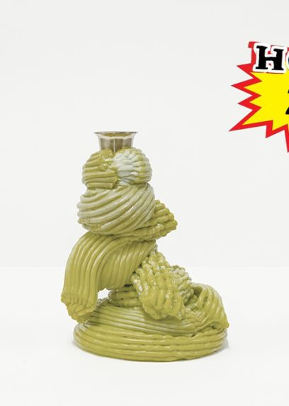 Bougeoirs Plastic Baroque Absinthe
