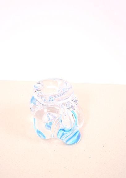 Blue Mystakke Candle Holder