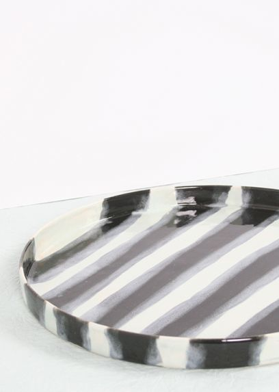 Striped Ceramic Tray