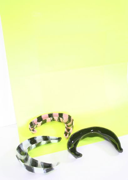 Pink & Black striped Banana