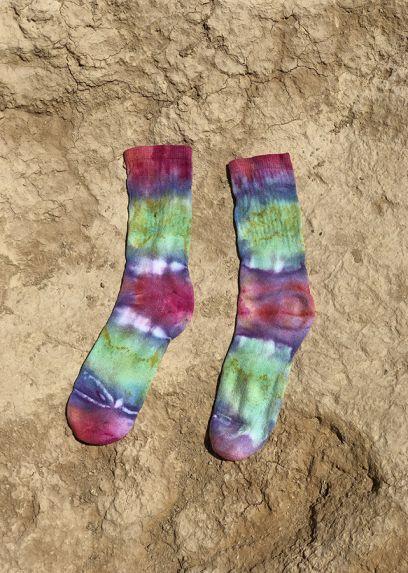 Green Tie & Dye Sport Socks
