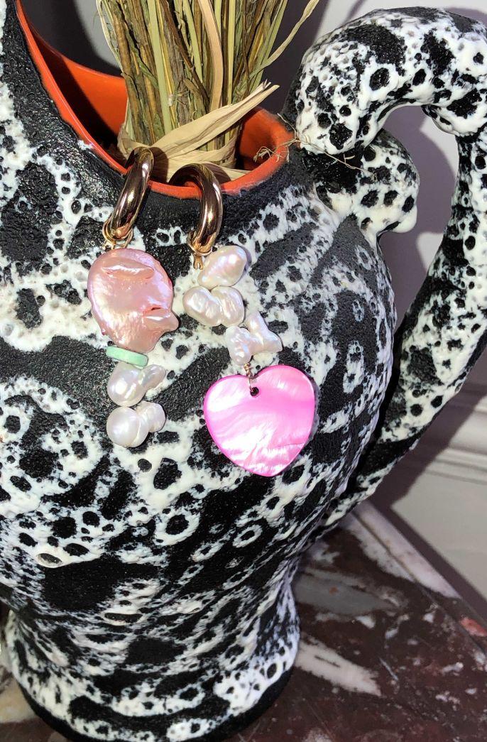 Pink Luv Freshwater Pearl Earrings