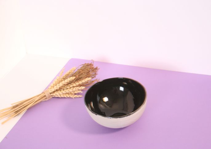 Small Black Basket BOWL
