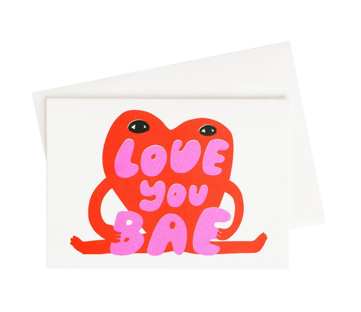 Love You Bae Postcard