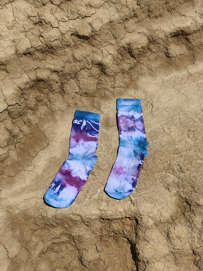 Blue Tie & Dye ankle socks