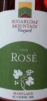 Sugarloaf Mountain Vineyard Rose Rare Rose Blend