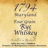Twin Valley 1794 Maryland Four Grain Rye Whiskey