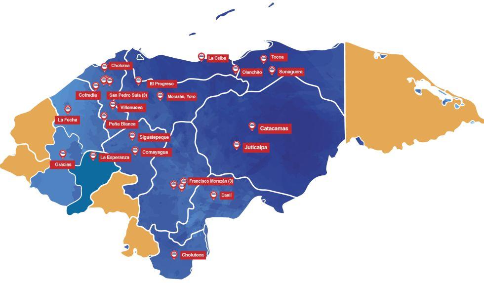 Mapa Cobertura Agencias