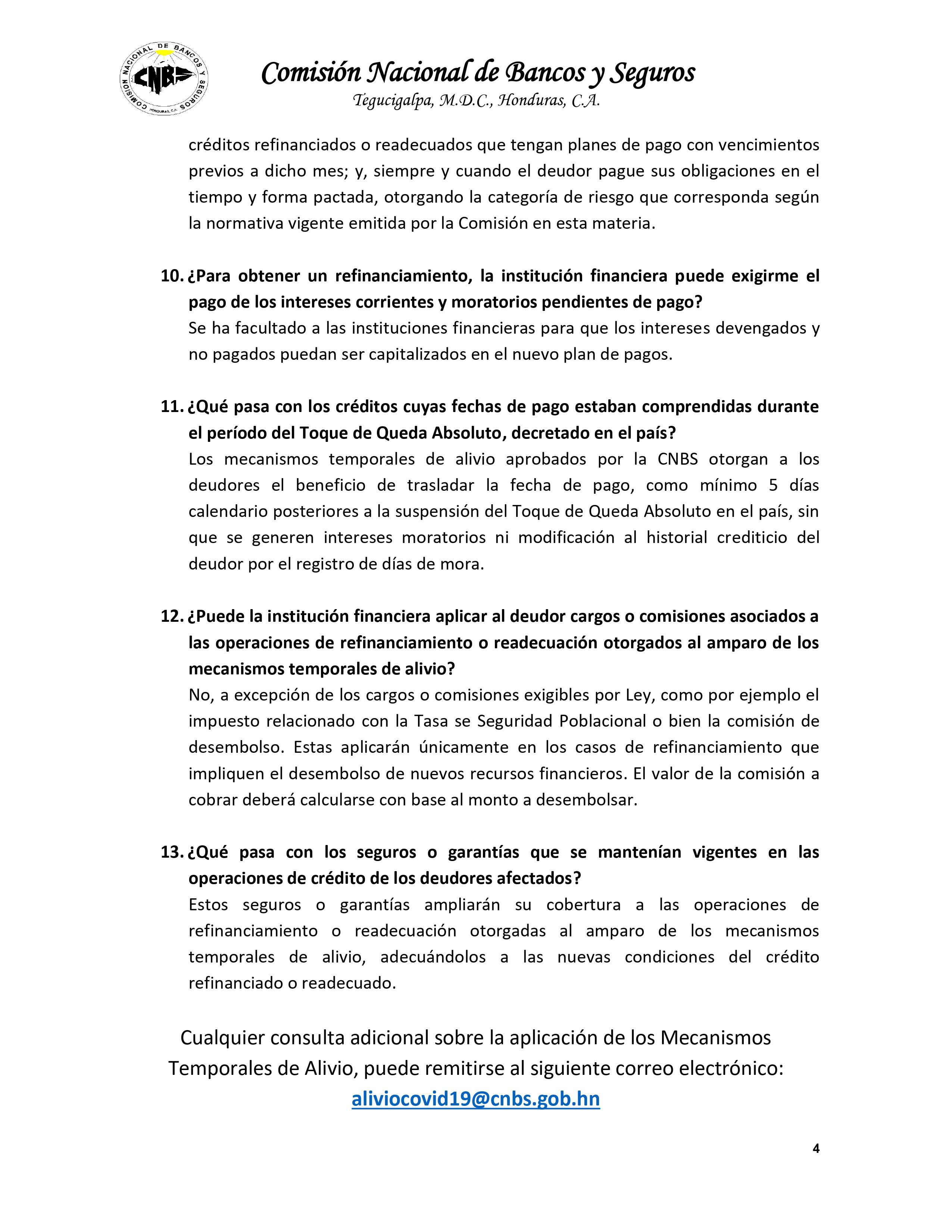 Plan de Alivio COVID19 CNBS Pagina 4 de 4