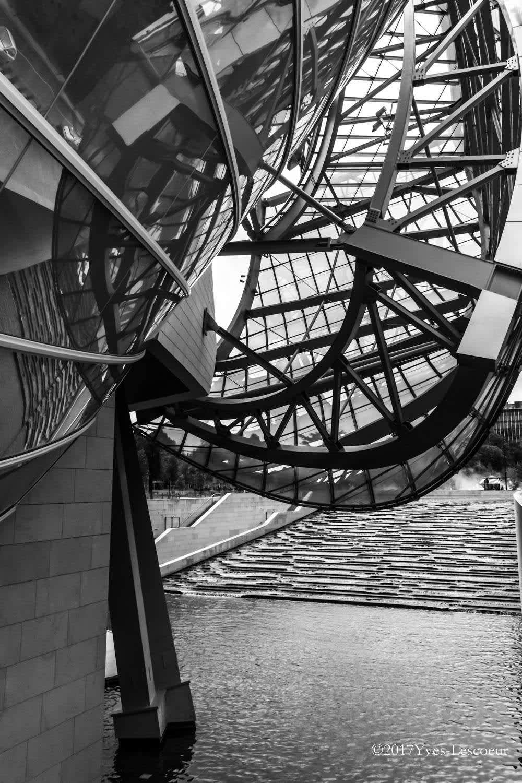 structure fondation Louis Vuitton