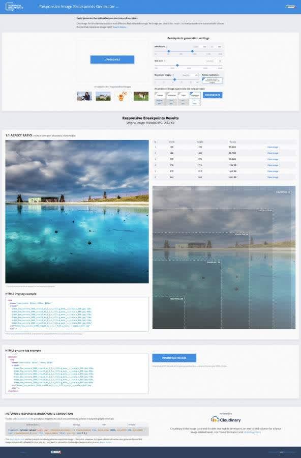la vitesse sur le web compression des images