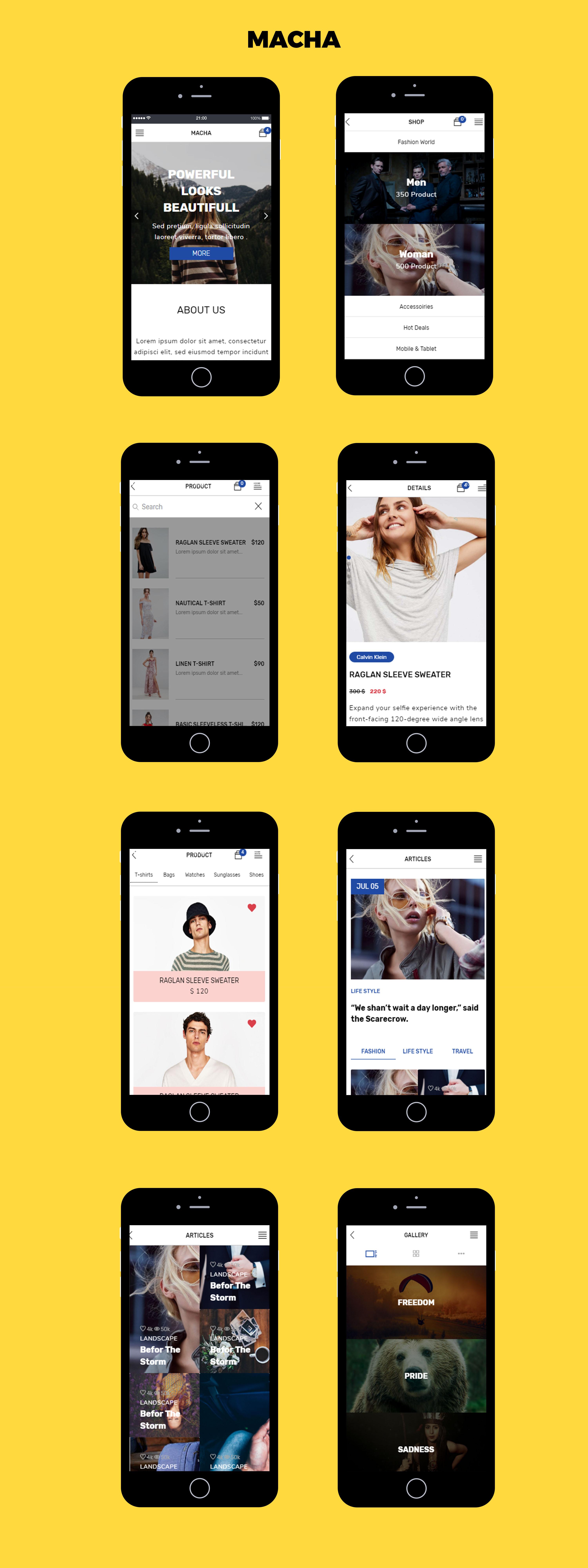 Macha HTML Mobile Template - 2