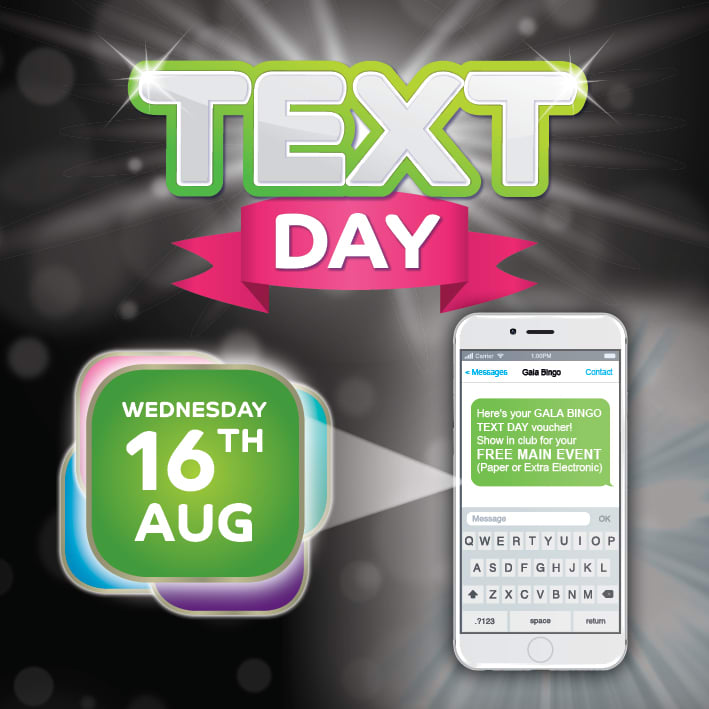 Text Day- Wednesday 16th August