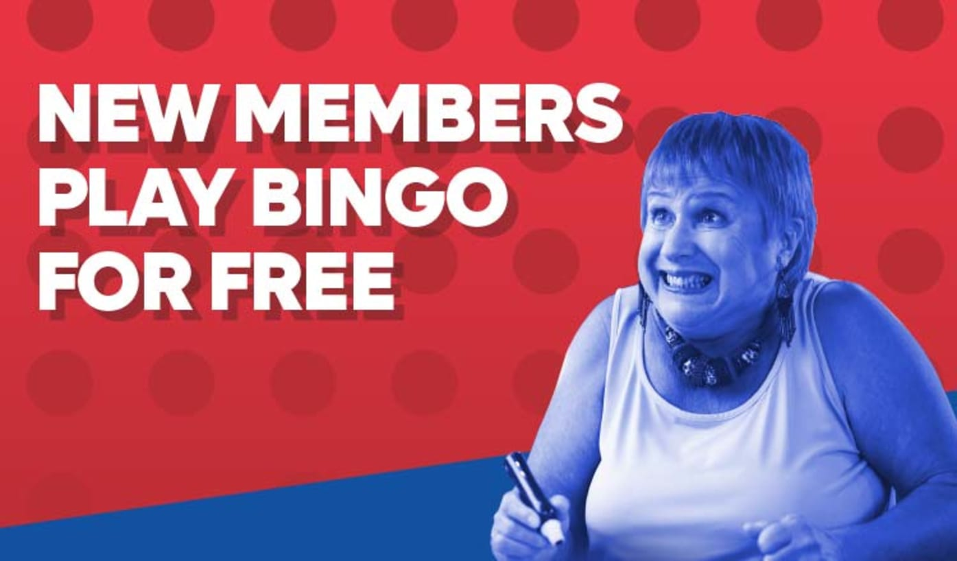 New here? Your first game of bingo is free!