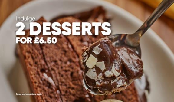 2 desserts £6.50