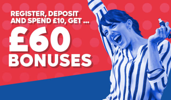 Get £60 to play with for just £10