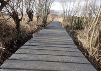 Plastecowood - Boardwalk made from Smartawood, a waste plastic product