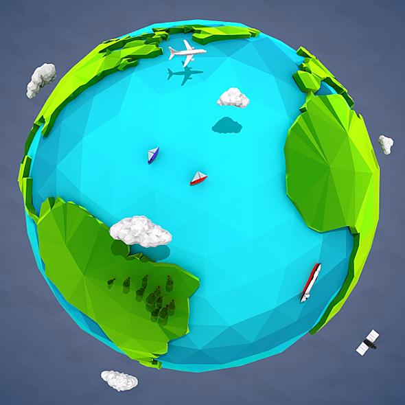 Lowpoly Earth