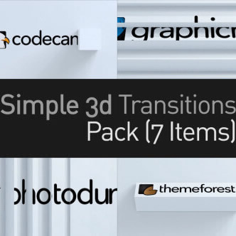 3Dシンプルなトランジションパック