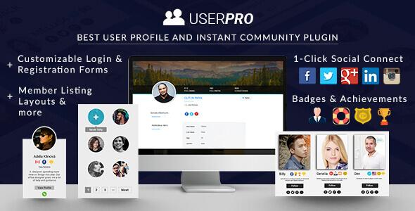 UserPro - ソーシャルログインとユーザープロフィール