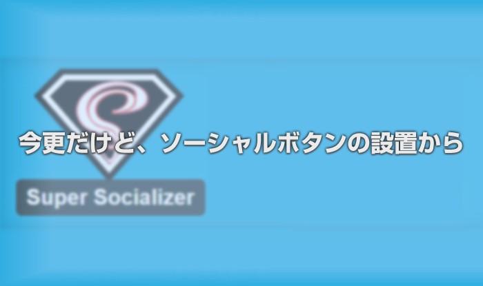 今更だけどソーシャルボタンの設置とSUPER SOCIALIZERの利用方法