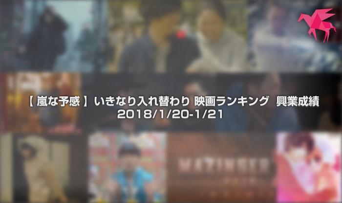 【 嵐な予感 】いきなり入れ替わり 映画ランキング 興業成績 2018/1/20-1/21