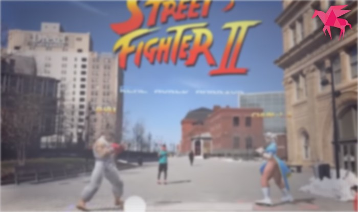 AR版のストリートファイターⅡって凄いな。iPhoneで対戦ができるみたいだよ!