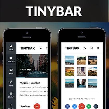 Tinybarモバイル|モバイルテンプレート