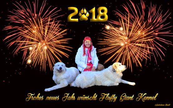 Fluffy Giant Happy New Year 2018  Die österreichische Pyrenäen Berghund Zuchtstätte