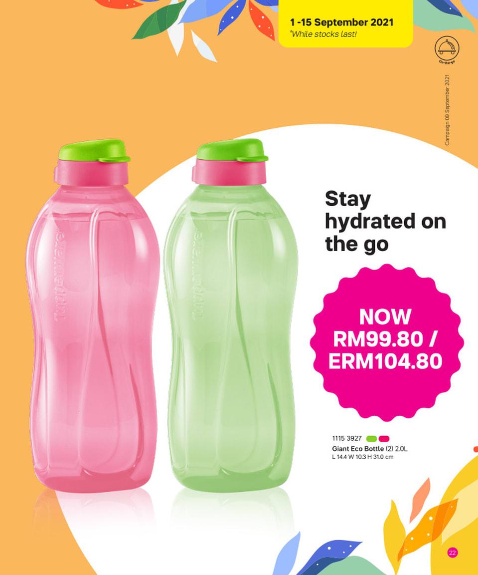 Giant Eco Bottle (2) 2.0L