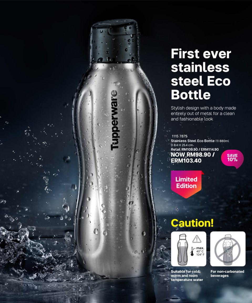Stainless Steel Eco Bottle (1) 880ml