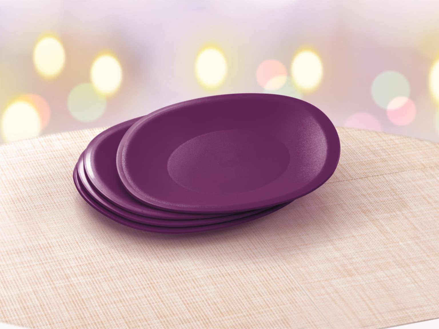 Lady Lavender Microwaveable Plates