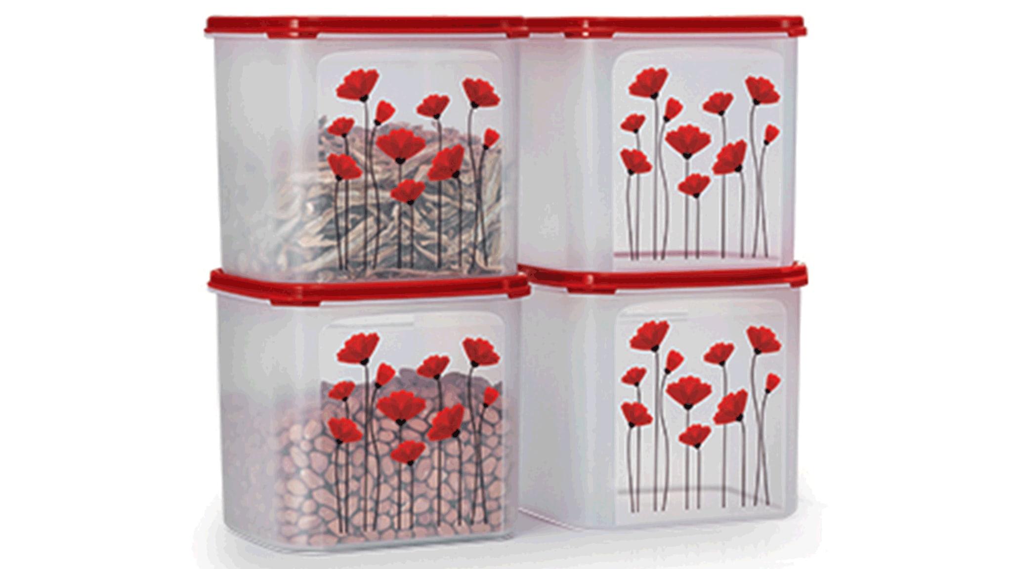 Red Poppy Garden Set