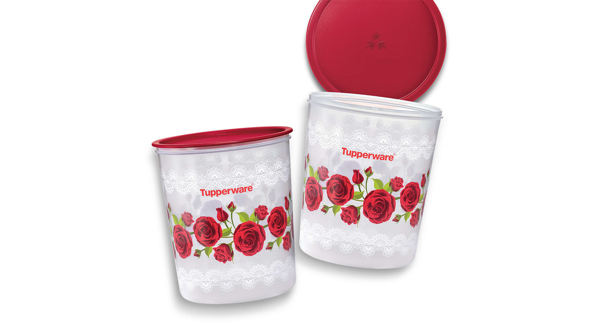 Royal Red Rose One Touch Maxi Canister (2) 5.5L