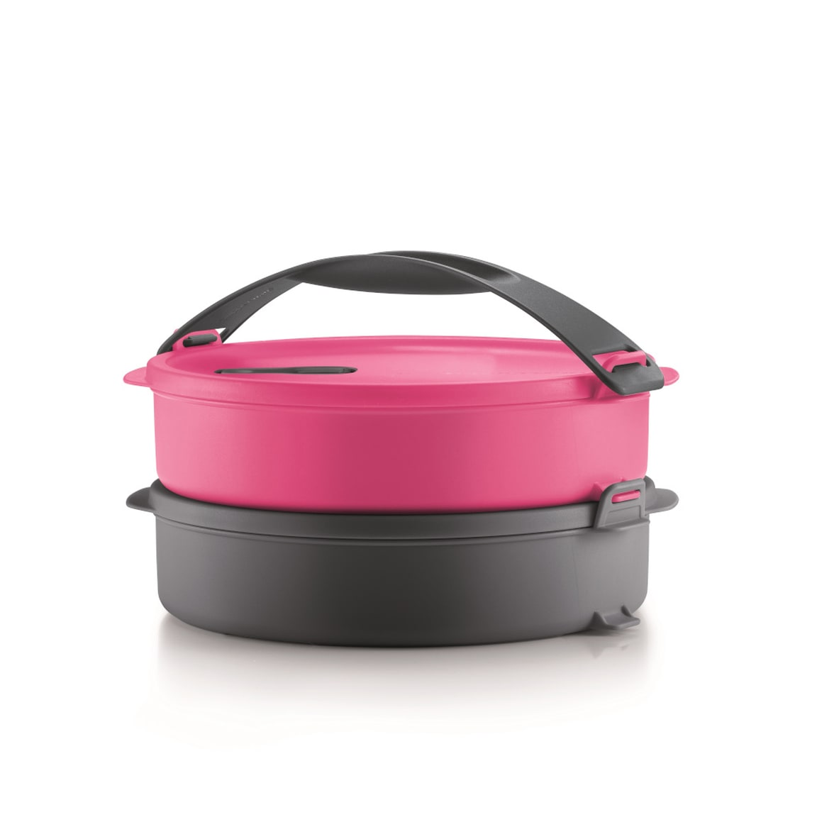 Microwave Round Click To Go - Pink Cosmo