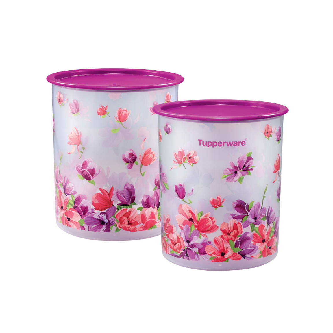 Garden Blooms One Touch Canister Medium (2) 3.0L