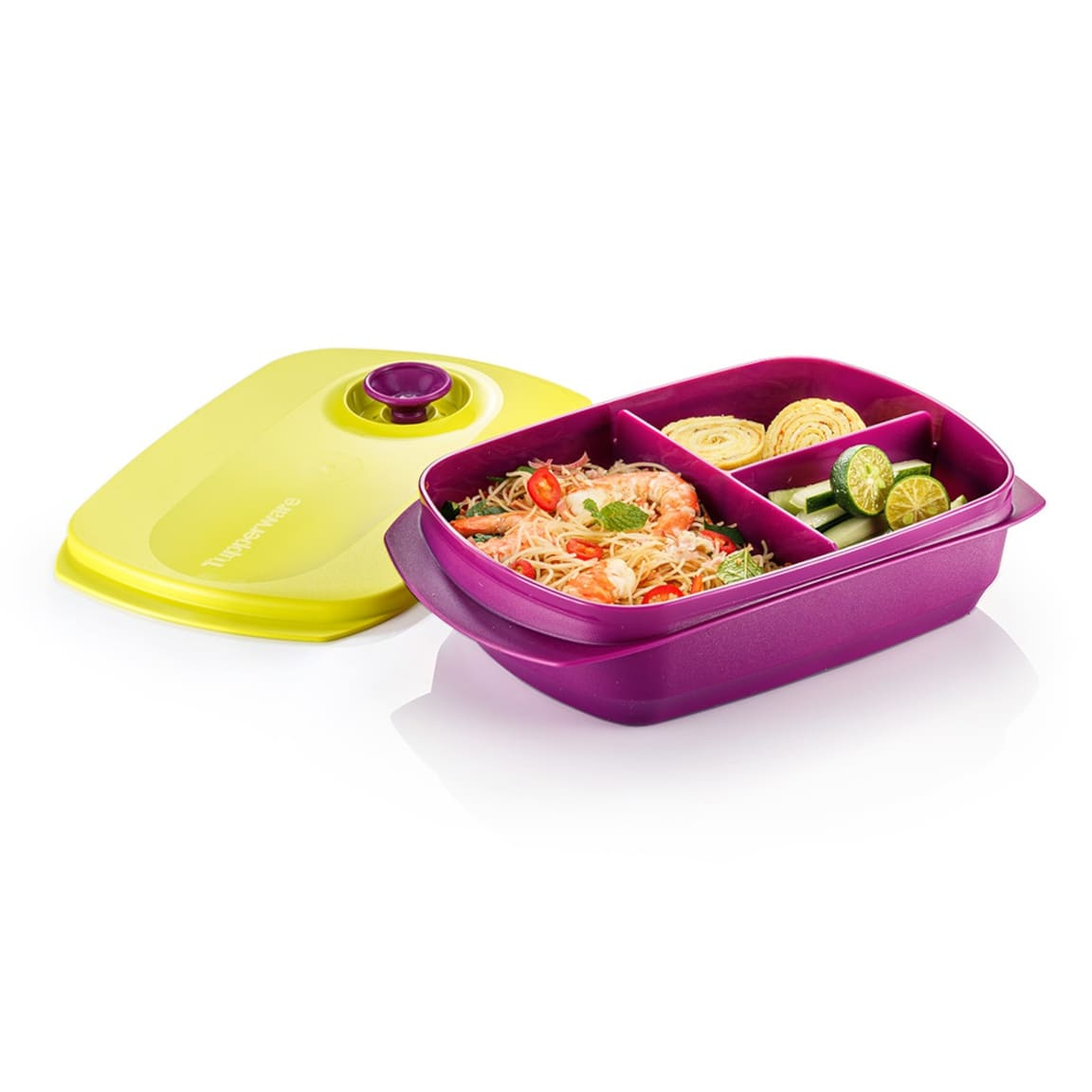 Reheatable Divided Lunch Box (1) 1.0L