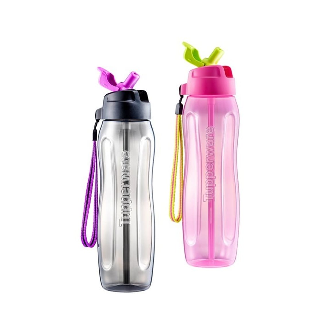 Slim Eco Bottle with straw (2) 750ml (PWP)