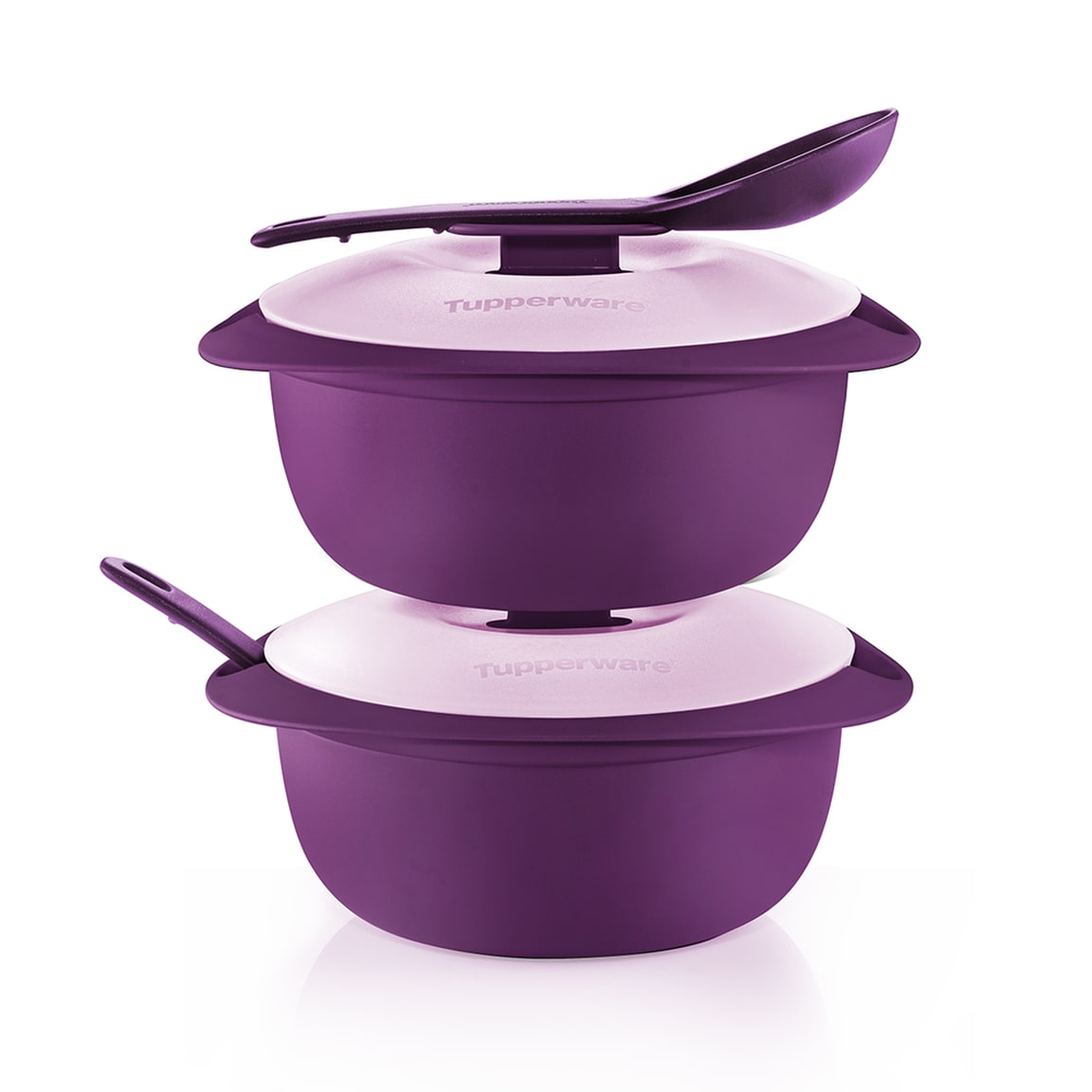 Purple Royale Round Server with Serving Spoon (2) 1.6L