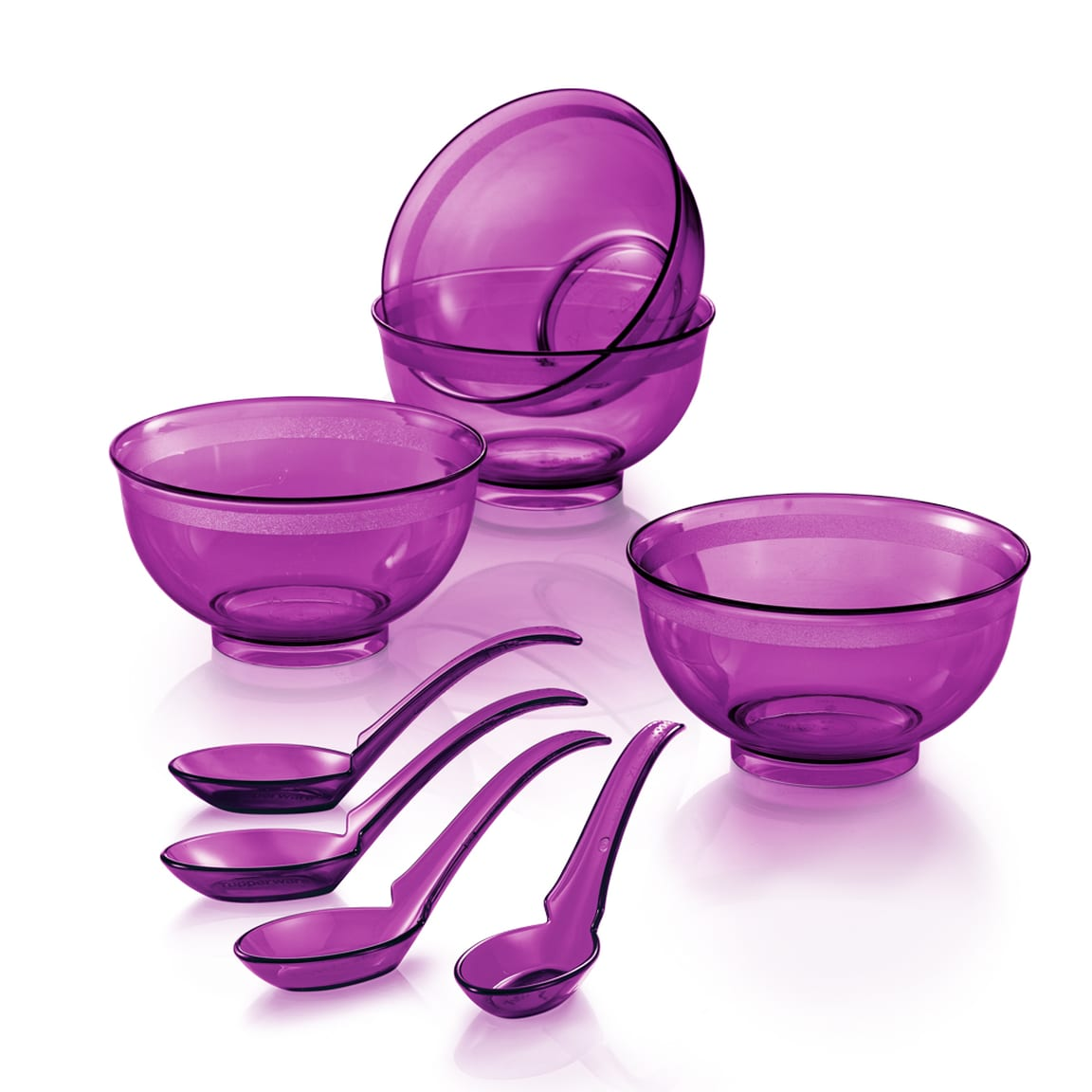PWP: Purple Royale Crystalline Bowl with Spoon (4) 250ml