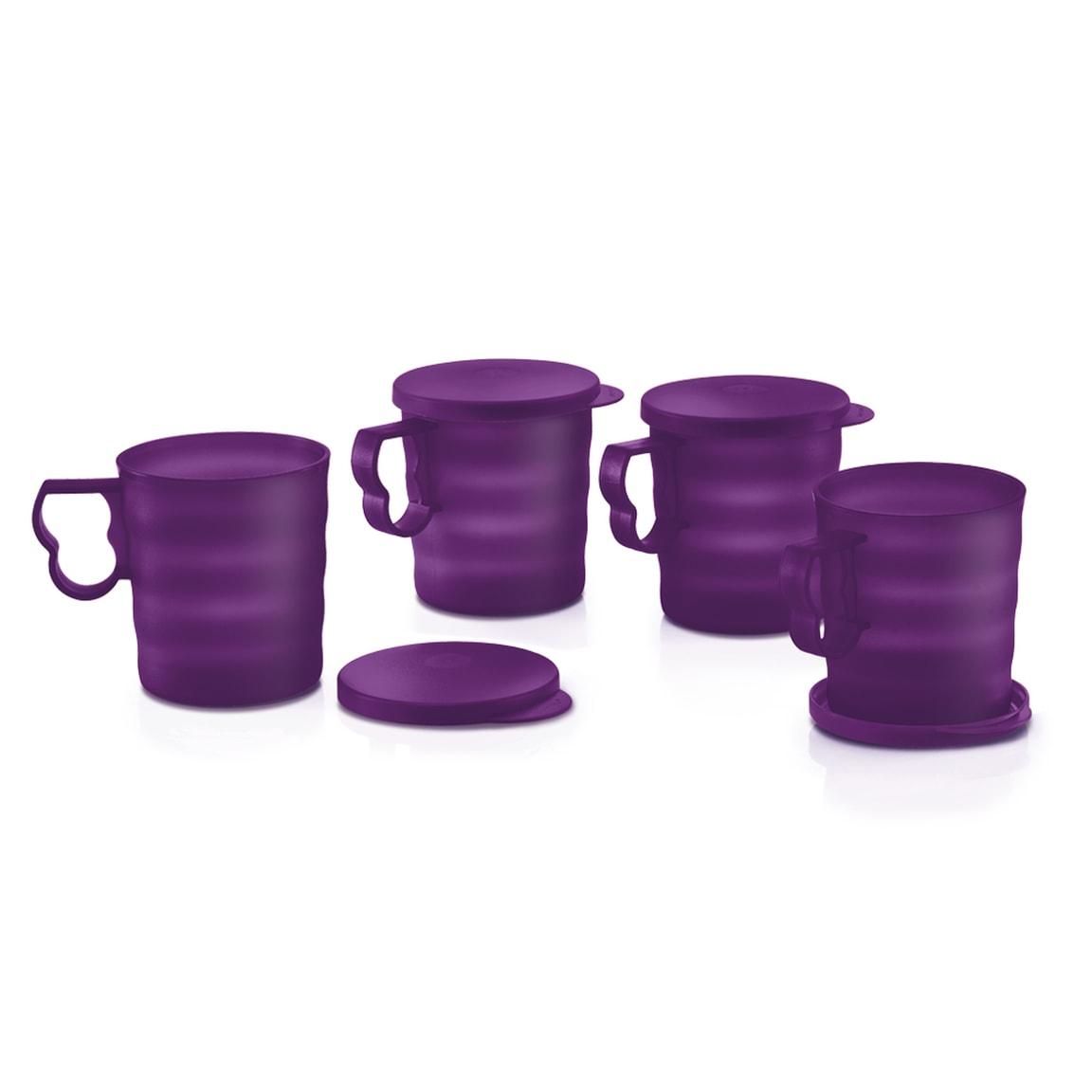 Purple Royale Mugs with Seal (4) 350ml
