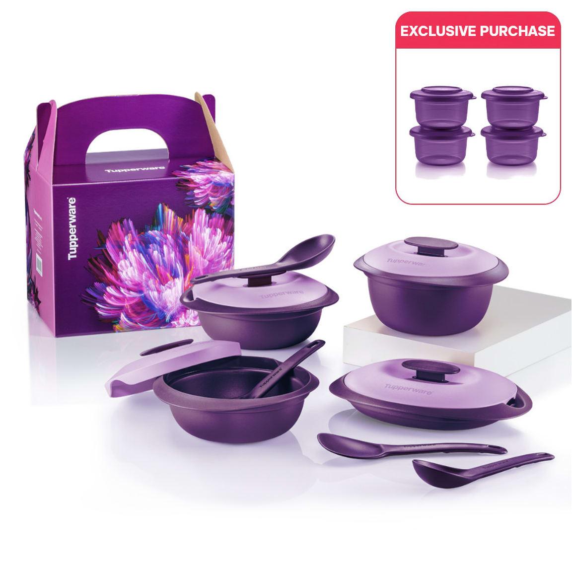 Purple Royale Petit Serveware Set