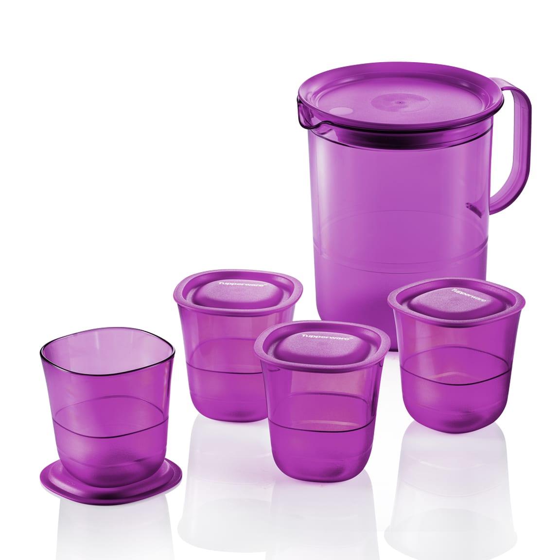 Purple Royale Crystalline Drinking Set